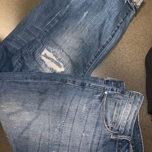 Pacsun Distressed Cropped Jeans